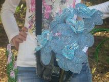 Διακοσμημένη με χάντρες λουλούδια χάντρα τέχνης Στοκ Εικόνα