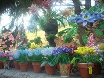 Διακοσμημένη με χάντρες λουλούδια χάντρα τέχνης Στοκ εικόνα με δικαίωμα ελεύθερης χρήσης
