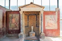 Διακοσμημένη πηγή σε μια βίλα της archeological περιοχής ompei Π Στοκ εικόνες με δικαίωμα ελεύθερης χρήσης