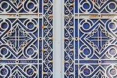 Διακοσμημένη πόρτα μετάλλων Στοκ Εικόνες