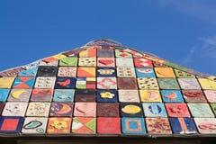 διακοσμημένη στέγη Στοκ Φωτογραφία