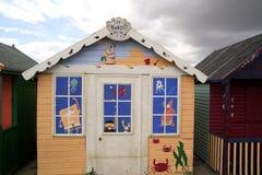 Διακοσμημένη τέχνη καλύβα παραλιών Στοκ Φωτογραφίες