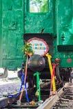 Διακοσμημένη τραίνο επιτροπή παντρεμένη ακριβώς Στοκ εικόνες με δικαίωμα ελεύθερης χρήσης