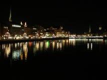 διακοσμημένη Χριστούγεννα νύχτα πλούσιο ζ Στοκ Εικόνα
