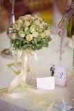 Διακοσμημένος γάμος πίνακας Στοκ φωτογραφία με δικαίωμα ελεύθερης χρήσης