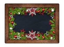 Διακοσμημένος πίνακας Χριστουγέννων Χριστουγέννων με τους κλάδους έλατου Στοκ φωτογραφία με δικαίωμα ελεύθερης χρήσης