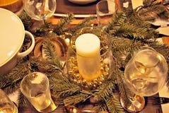 διακοσμημένος Χριστούγ&epsil Στοκ Φωτογραφίες