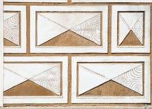 διακοσμημένος sgraffito τοίχος τεμαχίων Στοκ Εικόνα