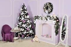 Διακοσμημένο δωμάτιο Χριστουγέννων Στοκ Φωτογραφία