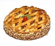 διακοσμημένο κέικ δίκτυ&omicron στοκ φωτογραφίες