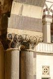 Διακοσμημένο κεφάλαιο των μνημειακών κτηρίων εισόδων νεκροταφείων, Mil Στοκ Εικόνα