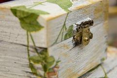 διακοσμημένο κιβώτιο decoupage Στοκ εικόνα με δικαίωμα ελεύθερης χρήσης