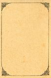 διακοσμημένο πλαισιωμένο έγγραφο Στοκ εικόνες με δικαίωμα ελεύθερης χρήσης