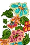 Διακοσμημένο υπόβαθρο λουλουδιών Στοκ Εικόνες