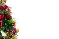 Διακοσμημένο χριστουγεννιάτικο δέντρο στην απομόνωση Στοκ φωτογραφία με δικαίωμα ελεύθερης χρήσης
