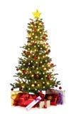 Διακοσμημένο χριστουγεννιάτικο δέντρο Στοκ Φωτογραφίες