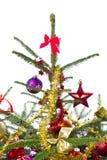 Διακοσμημένο χριστουγεννιάτικο δέντρο στοκ εικόνες