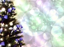 Διακοσμημένο χριστουγεννιάτικο δέντρο Στοκ φωτογραφία με δικαίωμα ελεύθερης χρήσης