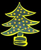 διακοσμημένο Χριστούγεννα δέντρο απεικόνισης Στοκ φωτογραφία με δικαίωμα ελεύθερης χρήσης