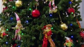 διακοσμημένο Χριστούγεν& Νέα έτος ή Χριστούγεννα απόθεμα βίντεο
