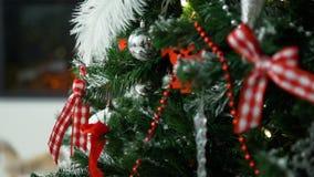 διακοσμημένο Χριστούγεν& απόθεμα βίντεο