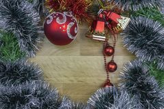 διακοσμημένο Χριστούγεν& στοκ εικόνα με δικαίωμα ελεύθερης χρήσης