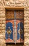 Διακοσμημένο arabesque σχέδιο στις πόρτες στο Μαρακές - το Μαρόκο Στοκ φωτογραφίες με δικαίωμα ελεύθερης χρήσης