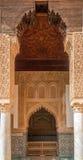 Διακοσμημένο arabesque σχέδιο στους τάφους Saadian στο Μαρακές, Μαρόκο Στοκ εικόνες με δικαίωμα ελεύθερης χρήσης