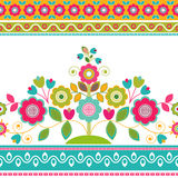 Διακοσμητικά άνευ ραφής floral σύνορα Στοκ Εικόνες