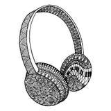Διακοσμητικά ακουστικά μουσικής ελεύθερη απεικόνιση δικαιώματος