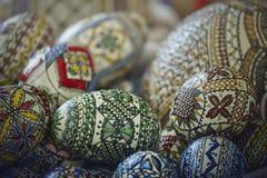 διακοσμητικά αυγά Πάσχας που χρωματίζονται Στοκ φωτογραφία με δικαίωμα ελεύθερης χρήσης