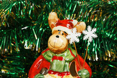 Διακοσμητικά ελάφια Χριστουγέννων Στοκ Εικόνες