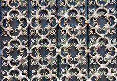 Διακοσμητικά κάγκελα επεξεργασμένος-σιδήρου στοκ φωτογραφία