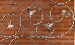 Διακοσμητικά κάγκελα επεξεργασμένου σιδήρου Στοκ φωτογραφία με δικαίωμα ελεύθερης χρήσης