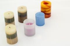 Διακοσμητικά κεριά στο υπόβαθρο Στοκ Εικόνα