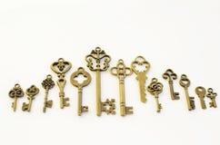 Διακοσμητικά κλειδιά των διαφορετικών μεγεθών, τυποποιημένη αντίκα στοκ φωτογραφίες