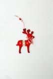 Διακοσμητικά κόκκινα ελάφια Χριστουγέννων Στοκ Φωτογραφία