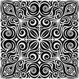 Διακοσμητικά λουλούδια στο μαύρο & άσπρο, Floral διακοσμητικό περίκομψο υποβάθρου σχέδιο mandala δερματοστιξιών γραφικό ελεύθερη απεικόνιση δικαιώματος