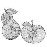 Διακοσμητικά μήλο και αχλάδι με ένα όμορφο σχέδιο Στοκ εικόνες με δικαίωμα ελεύθερης χρήσης