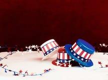 Διακοσμητικά πατριωτικά καπέλα Στοκ εικόνες με δικαίωμα ελεύθερης χρήσης