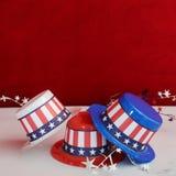 Διακοσμητικά πατριωτικά καπέλα Στοκ Εικόνα