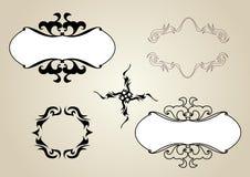 Διακοσμητικά πλαίσια και σχέδιο σημαδιών. Διανυσματικό σύνολο Στοκ εικόνα με δικαίωμα ελεύθερης χρήσης