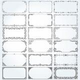 Διακοσμητικά πλαίσια και σύνορα ορθογωνίων καθορισμένα διανυσματικά Στοκ εικόνες με δικαίωμα ελεύθερης χρήσης