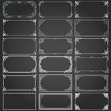 Διακοσμητικά πλαίσια και σύνορα ορθογωνίων καθορισμένα διανυσματικά Στοκ φωτογραφίες με δικαίωμα ελεύθερης χρήσης