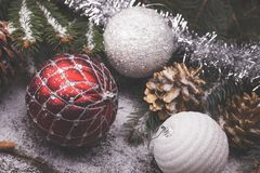 Διακοσμητικά στοιχεία Χριστουγέννων Στοκ φωτογραφίες με δικαίωμα ελεύθερης χρήσης