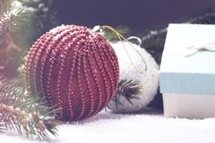 Διακοσμητικά στοιχεία Χριστουγέννων Στοκ εικόνα με δικαίωμα ελεύθερης χρήσης