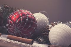Διακοσμητικά στοιχεία Χριστουγέννων Στοκ Φωτογραφία