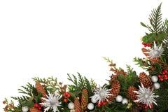 Διακοσμητικά σύνορα Χριστουγέννων Στοκ Εικόνα
