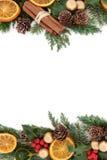 Διακοσμητικά σύνορα Χριστουγέννων Στοκ φωτογραφίες με δικαίωμα ελεύθερης χρήσης