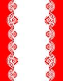 Διακοσμητικά σύνορα red-white_center Στοκ φωτογραφία με δικαίωμα ελεύθερης χρήσης
